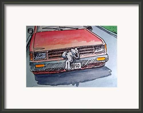 Car Hood Sketchbook Project Down My Street Framed Print By Irina Sztukowski