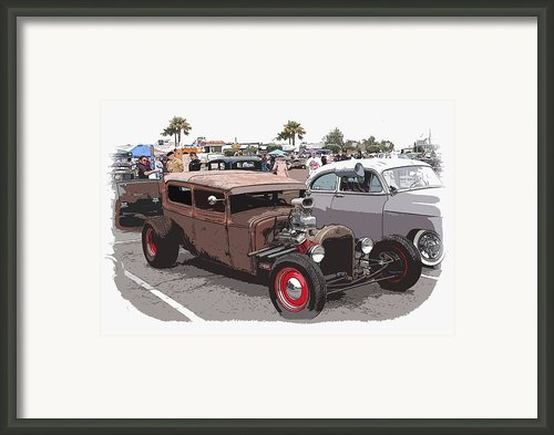 Car Show 1928 Framed Print By Steve Mckinzie