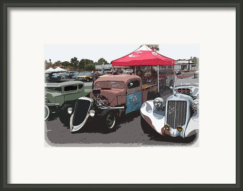 Car Show Hot Rods Framed Print By Steve Mckinzie