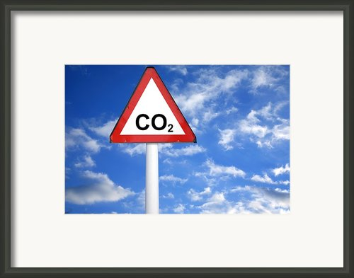 Carbon Dioxide And Global Warming Framed Print By Victor De Schwanberg