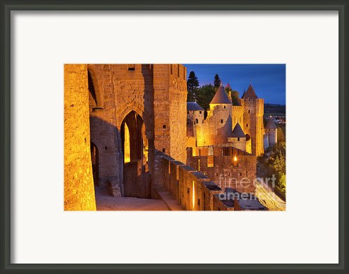 Carcassonne Ramparts Framed Print By Brian Jannsen