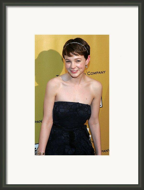 Carey Mulligan Wearing A Nina Ricci Framed Print By Everett