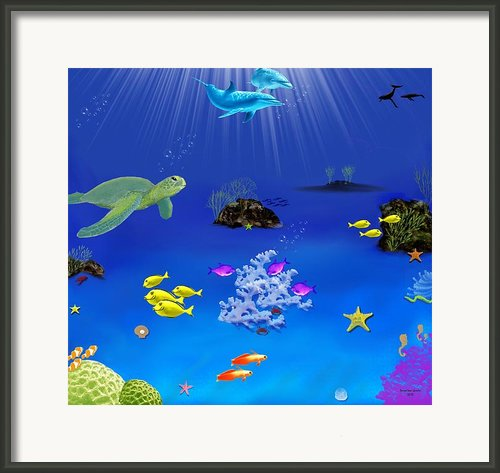 Caribbean Blue Framed Print By Tanya Van Gorder