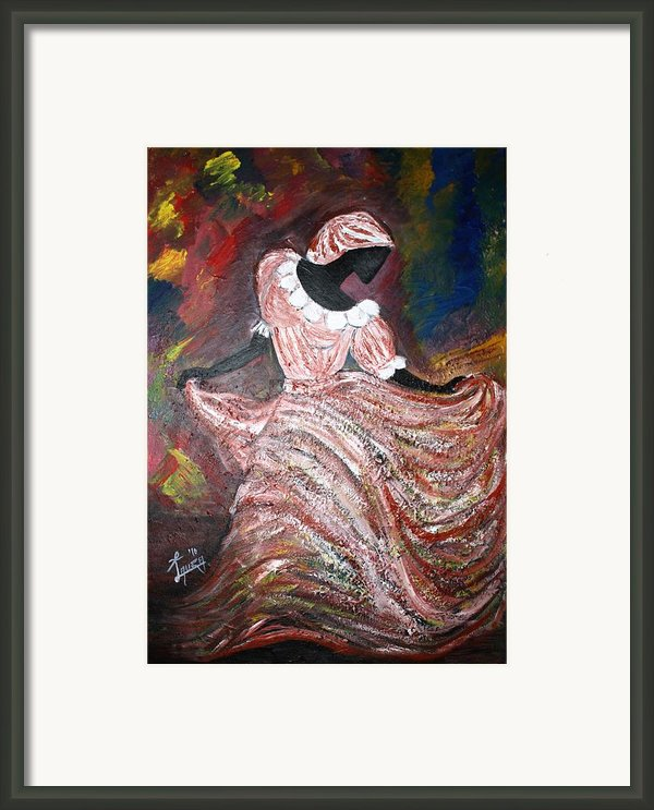 Caribbean Dancer Framed Print By Laura Fatta