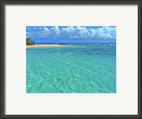 Caribbean Water Framed Print By Scott Mahon