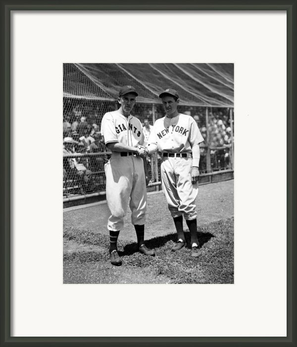 Carl Hubbell & Vernon Lefty Gomez Framed Print By Everett