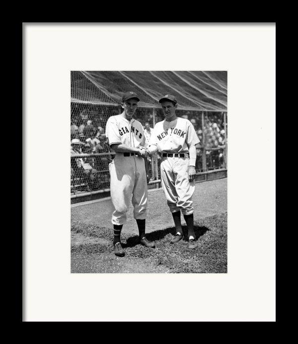 Carl Hubbell & Vernon Lefty Gomez Framed Print By Everett
