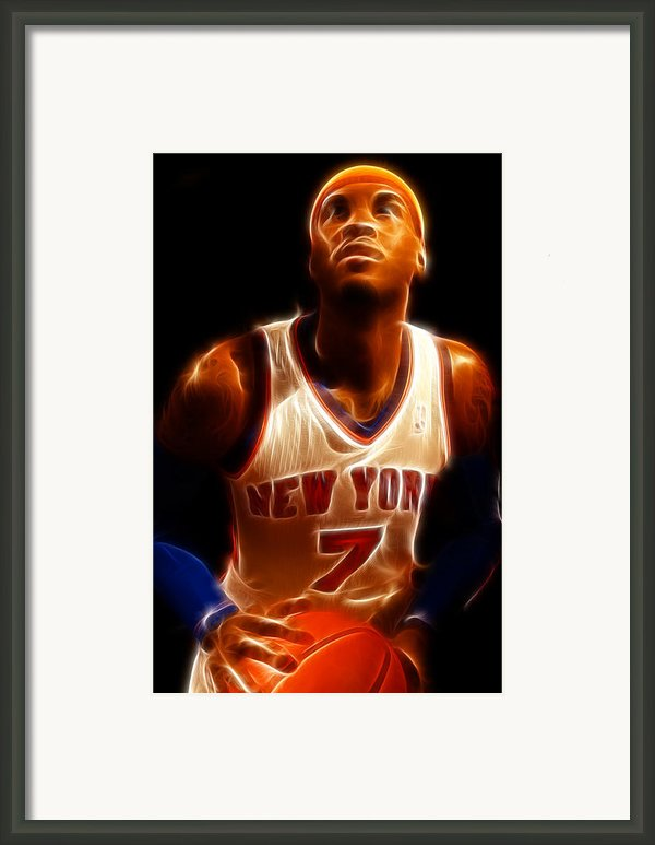 Carmelo Anthony - New York Nicks - Basketball - Mello Framed Print By Lee Dos Santos