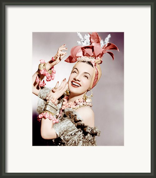 Carmen Miranda, Ca. Early 1940s Framed Print By Everett