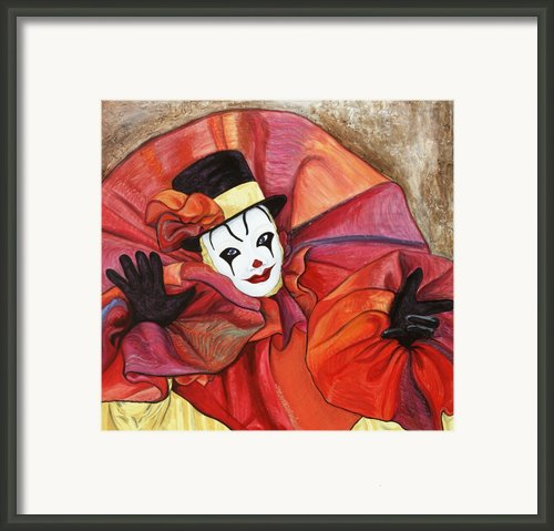 Carnival Clown Framed Print By Patty Vicknair
