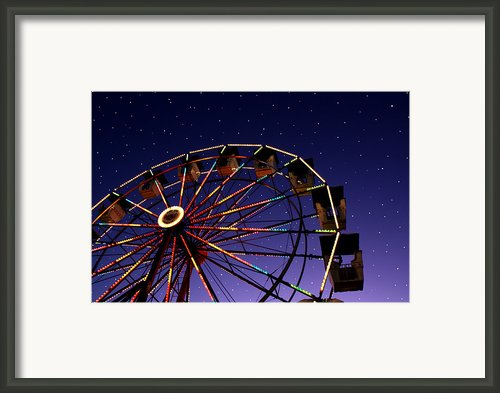 Carnival Ferris Wheel Against Starry Night Sky Framed Print By Heather Cate Photography