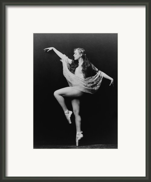 Carol Bergman, A Ziegfeld Girl Posed Framed Print By Everett