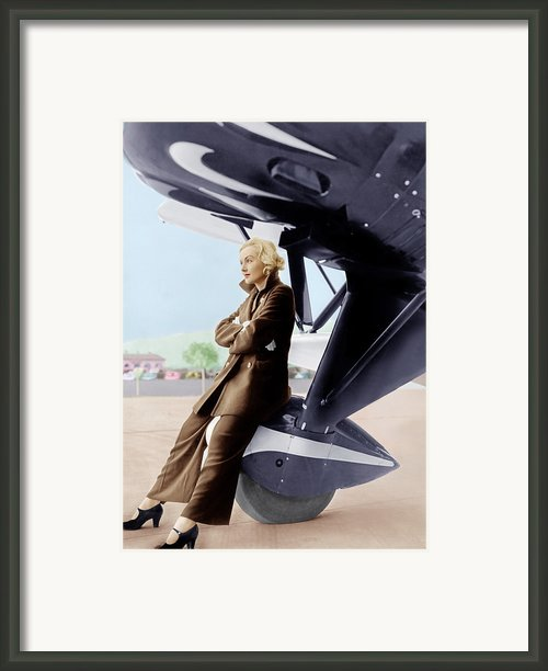 Carole Lombard, Ca. 1935 Framed Print By Everett