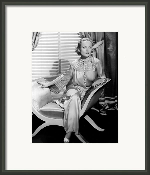 Carole Lombard, Sitting, In A 1930s Framed Print By Everett