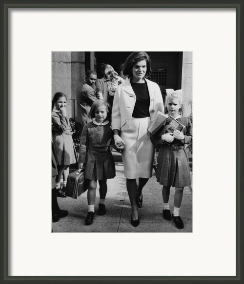 Caroline Kennedy Front Left, Jacqueline Framed Print By Everett