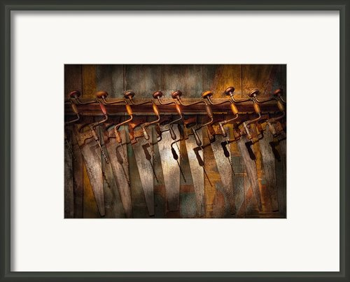 Carpenter  - Saws And Braces  Framed Print By Mike Savad