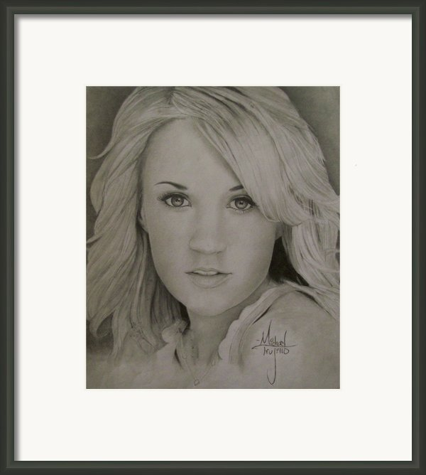 Carrie Underwood Drawing Framed Print By Michael Trujillo