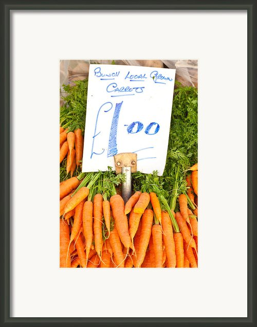 Carrots Framed Print By Tom Gowanlock