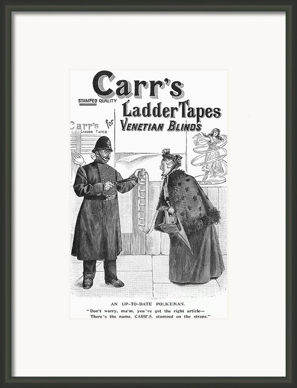 Carrs Ladder Tapes, 1897 Framed Print By Granger