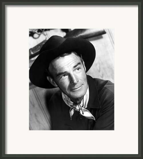 Carson City, Randolph Scott, 1952 Framed Print By Everett