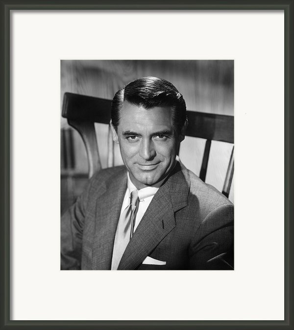 Cary Grant (1904-1986) Framed Print By Granger
