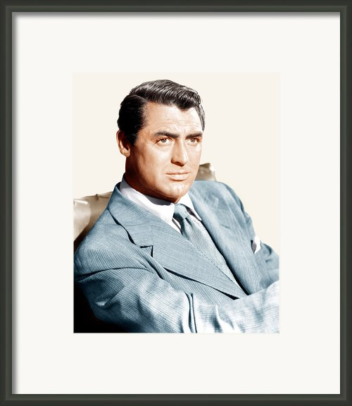 Cary Grant, Ca. Early 1940s Framed Print By Everett