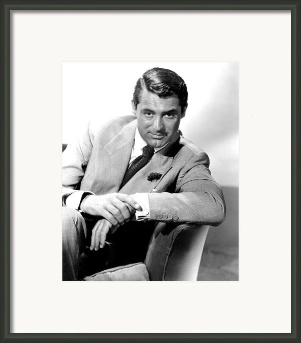Cary Grant, Portrait Framed Print By Everett