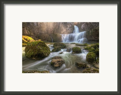 Cascade Of Billaud Framed Print By Philippe Saire - Photography