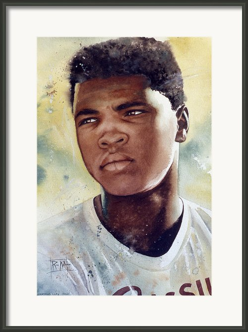 Cassius Clay Framed Print By Rich Marks