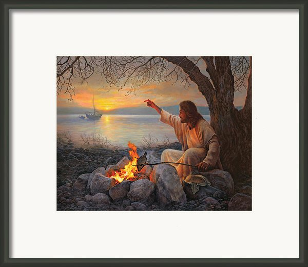 Cast Your Nets On The Right Side Framed Print By Greg Olsen
