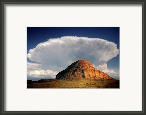 Castle Butte In Big Muddy Valley Of Saskatchewan Framed Print By Mark Duffy