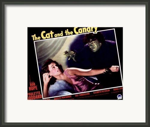 Cat And The Canary, The, Paulette Framed Print By Everett