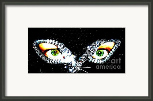 Cat Mask Framed Print By C Lythgoe