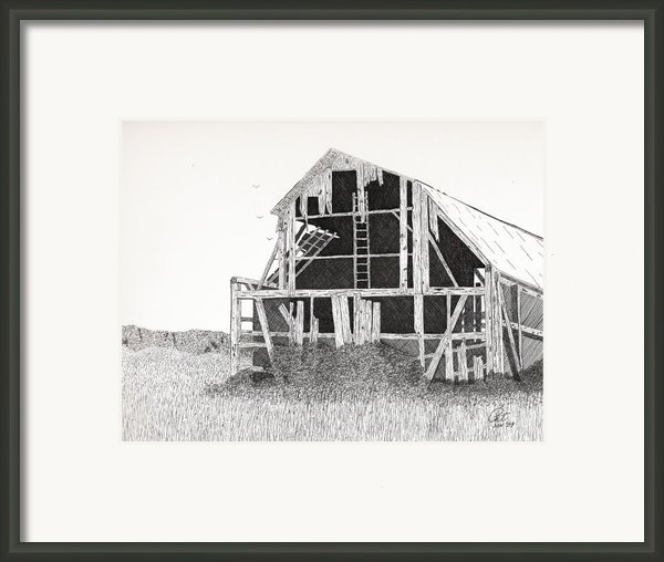 Catawba Barn Framed Print By Pat Price