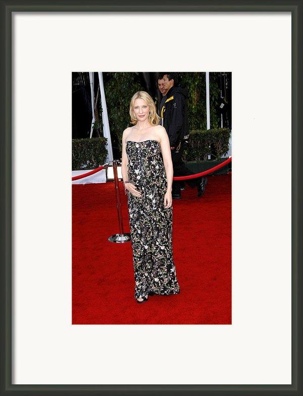 Cate Blanchett Wearing A Balenciaga Framed Print By Everett