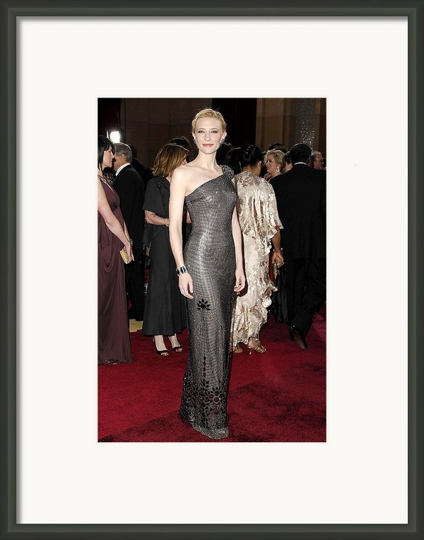 Cate Blanchett Wearing Armani Prive Framed Print By Everett