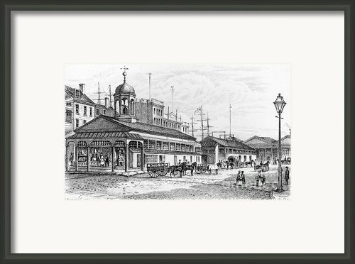 Catharine Market, 1850 Framed Print By Granger