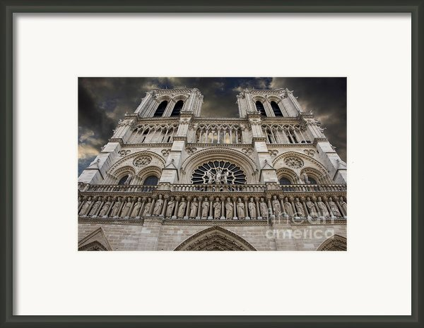 Cathedral Notre Dame Of Paris. France   Framed Print By Bernard Jaubert