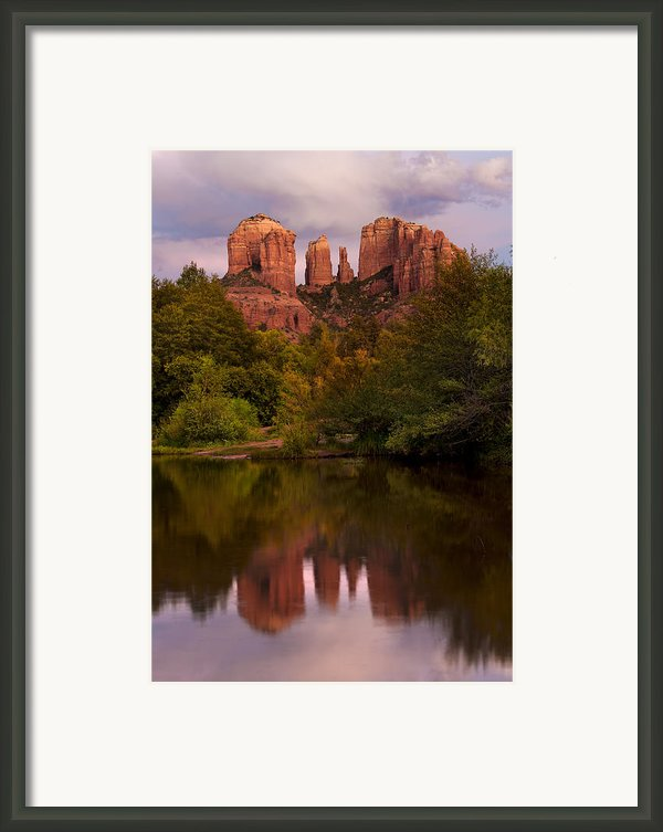 Cathedral Rock Framed Print By Jeffrey Campbell