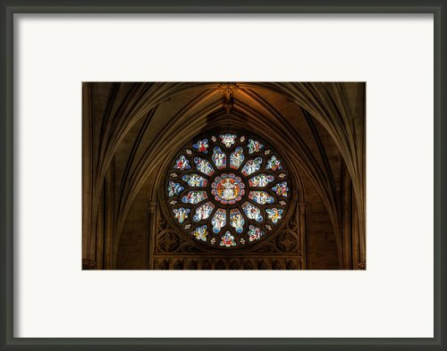 Cathedral Window Framed Print By Adrian Evans