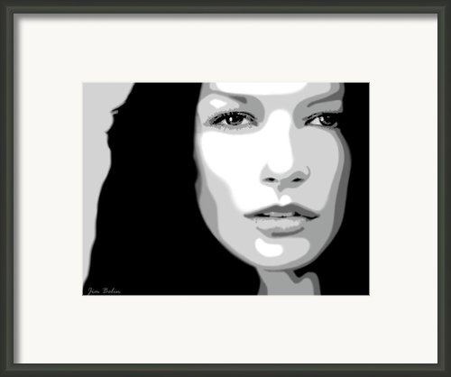Catherine Zeta Jones 3 Framed Print By Jim Belin