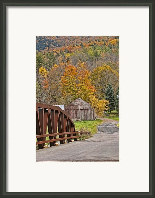 Catskills Iron Bridge Framed Print By Gregory Scott