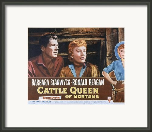 Cattle Queen Of Montana, Ronald Reagan Framed Print By Everett