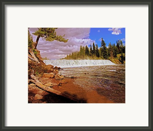 Cave Falls Framed Print By Rich Walter