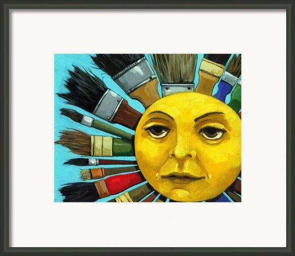 Cbs Sunday Morning Sun Art Framed Print By Linda Apple