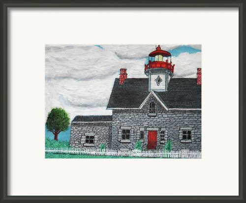 Cedar Point Lighthouse Framed Print By Gordon Wendling
