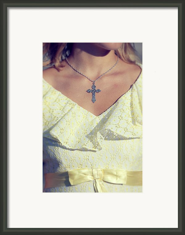 Celctic Cross Framed Print By Joana Kruse