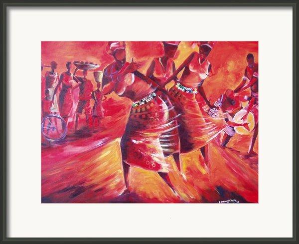Celeration Framed Print By Michael Echekoba
