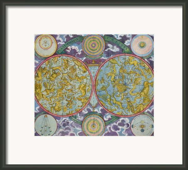Celestial Map Of The Planets Framed Print By Georg Christoph Eimmart