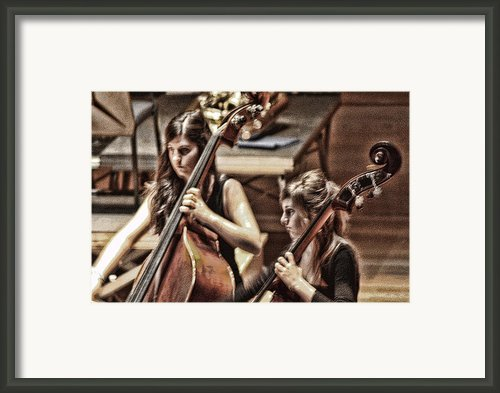 Cellist Framed Print By Angel Jesus De La Fuente